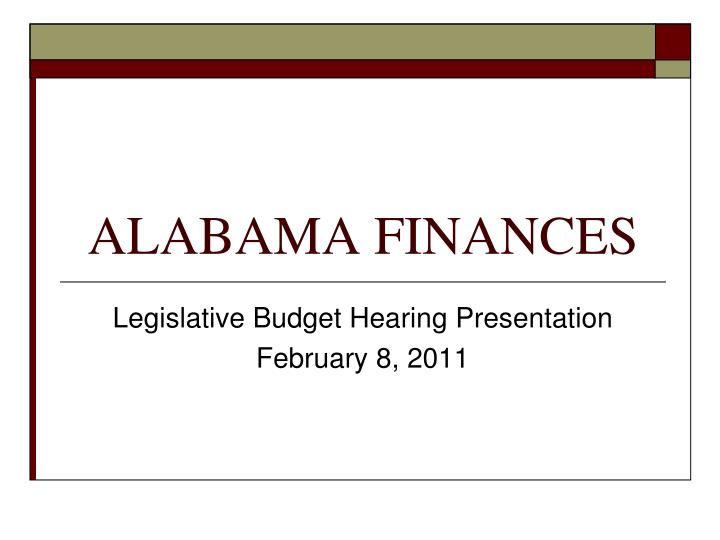 alabama finances n.