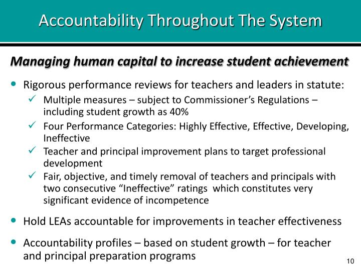 Accountability Throughout The System