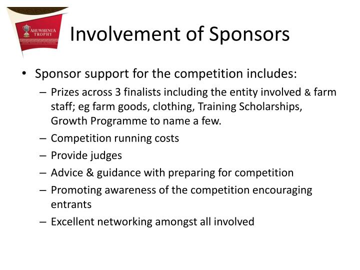 Involvement of Sponsors