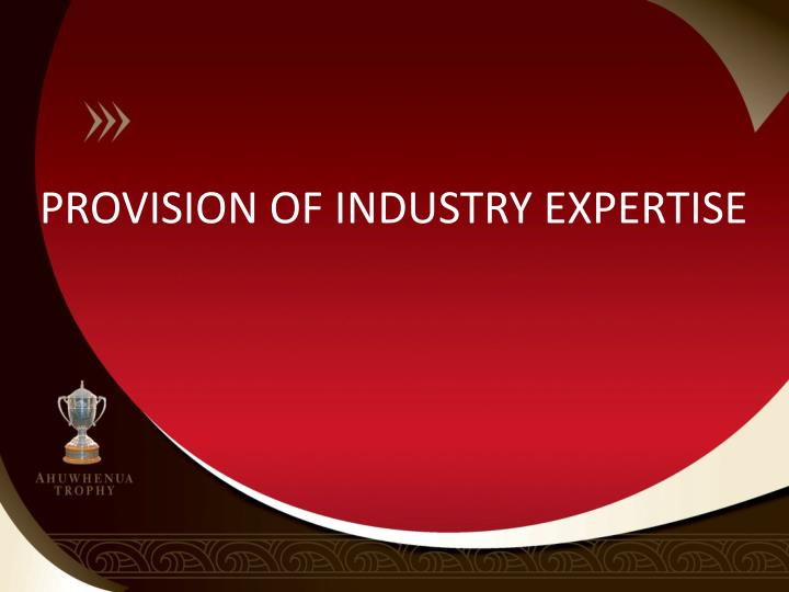 PROVISION OF INDUSTRY EXPERTISE