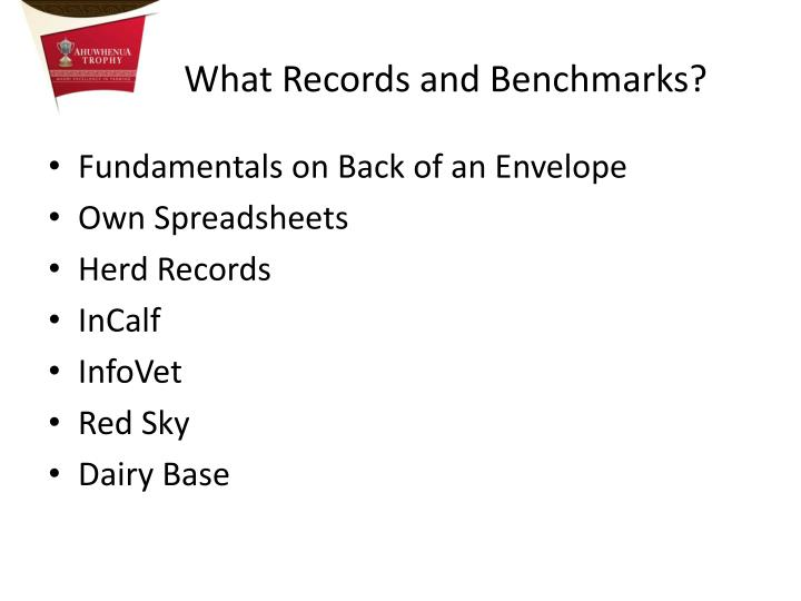What Records and Benchmarks?