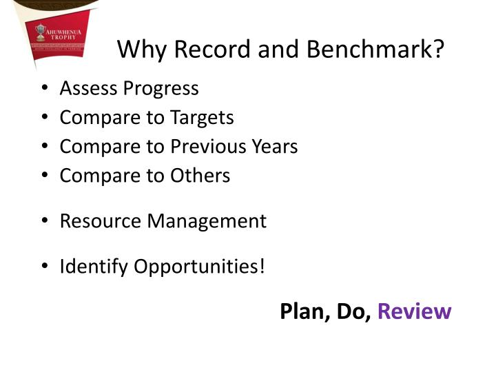 Why Record and Benchmark?