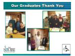 our graduates thank you1