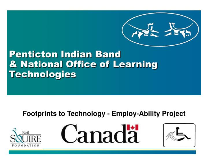 penticton indian band national office of learning technologies n.