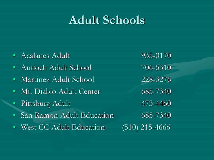 Adult Schools