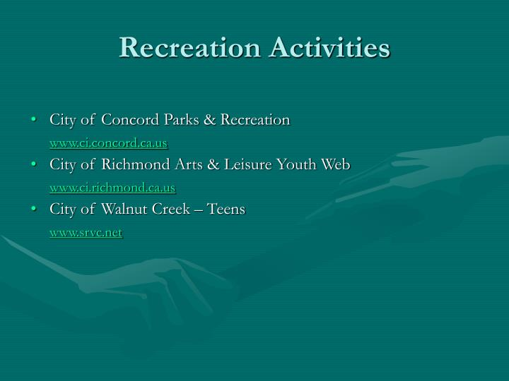 City of Concord Parks & Recreation