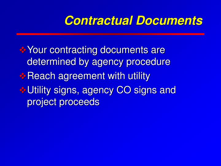 Contractual Documents