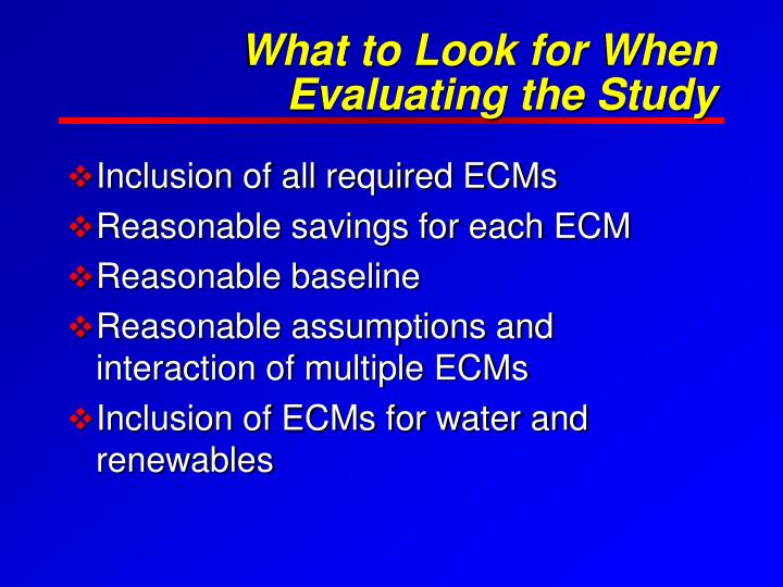 What to Look for When Evaluating the Study