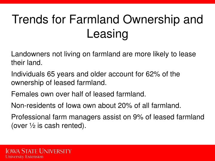 Trends for Farmland Ownership and