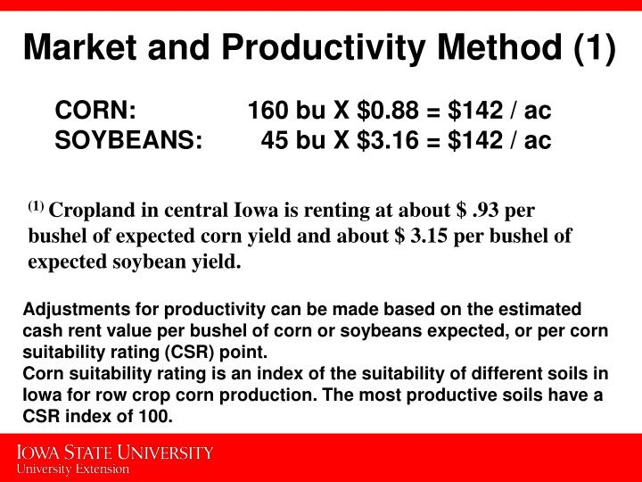 Market and Productivity Method (1)