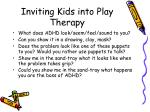 inviting kids into play therapy