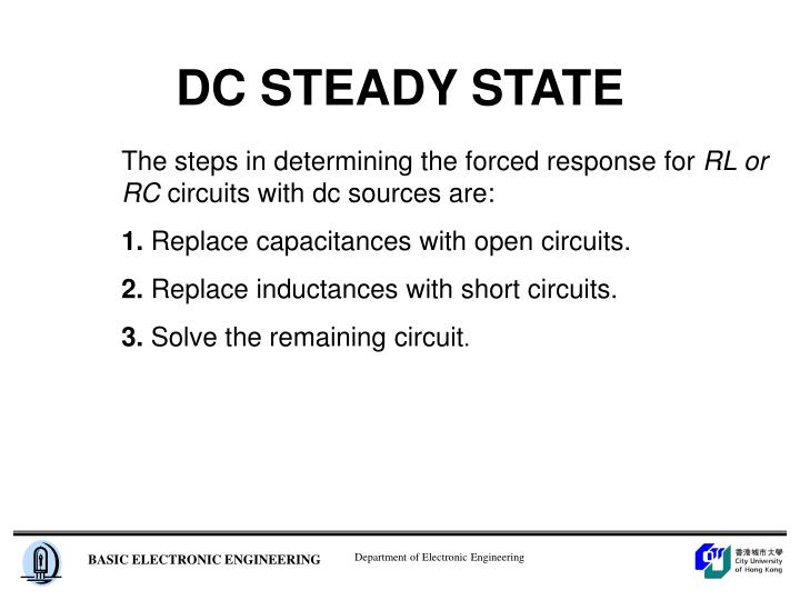 DC STEADY STATE