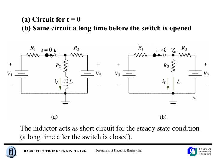 (a) Circuit for t = 0