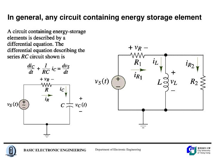 In general, any circuit containing energy storage element