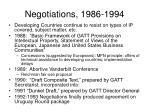 negotiations 1986 1994
