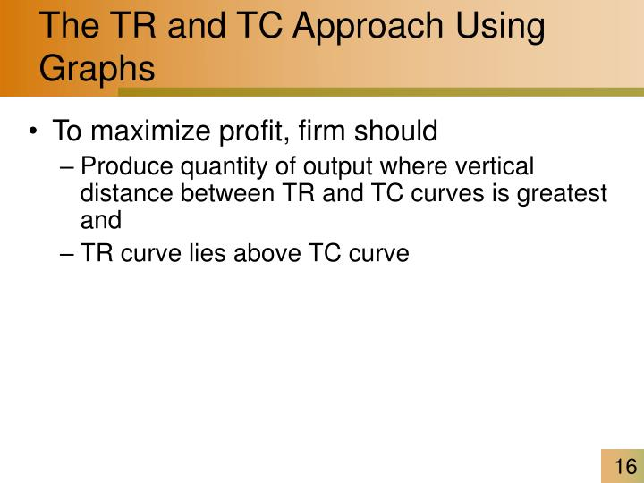 The TR and TC Approach Using Graphs