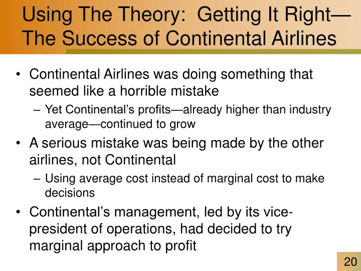 Using The Theory:  Getting It Right