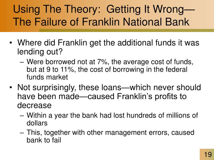Using The Theory:  Getting It Wrong