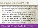 emphasize important words