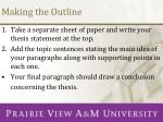 making the outline1