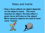 mass and inertia