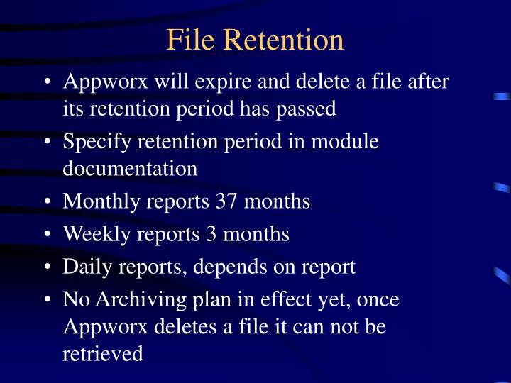 File Retention