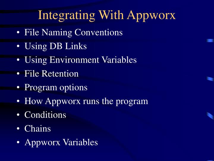 Integrating With Appworx