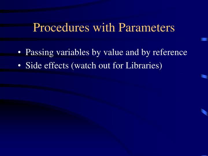 Procedures with Parameters