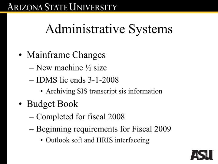 Administrative Systems