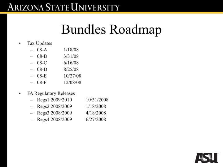 Bundles Roadmap