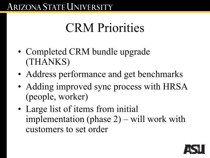 CRM Priorities