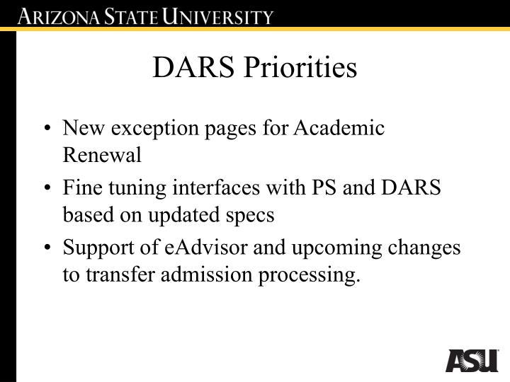 DARS Priorities
