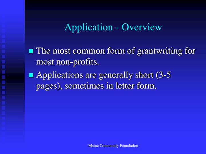 Application - Overview