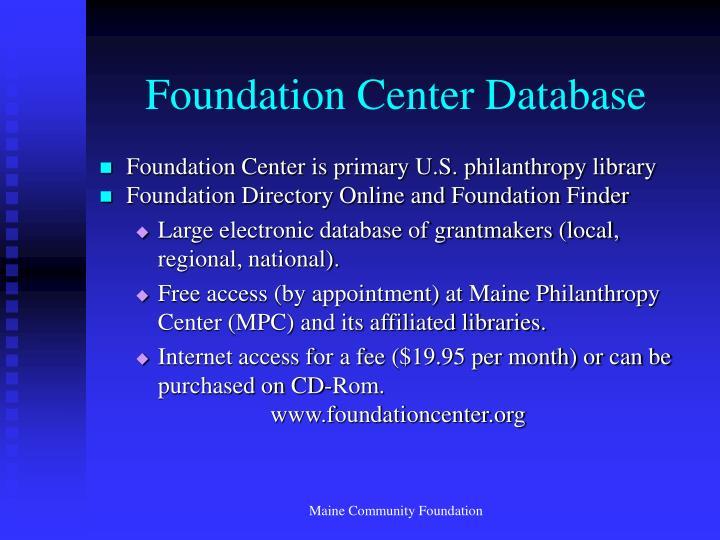 Foundation Center Database