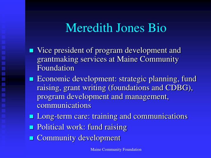 Meredith jones bio