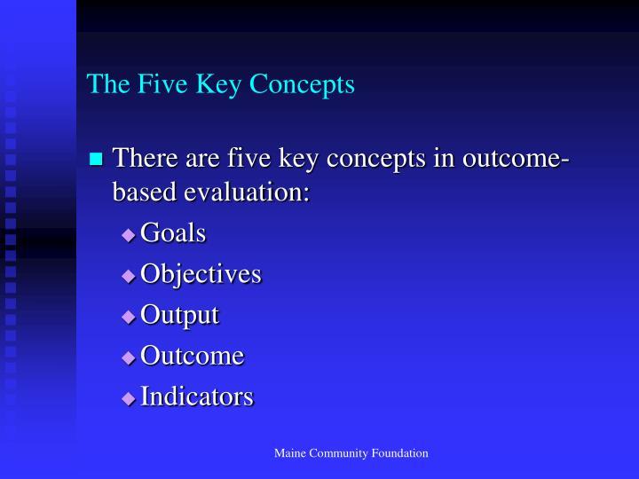 The Five Key Concepts