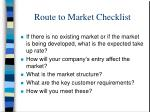 route to market checklist1
