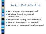 route to market checklist2