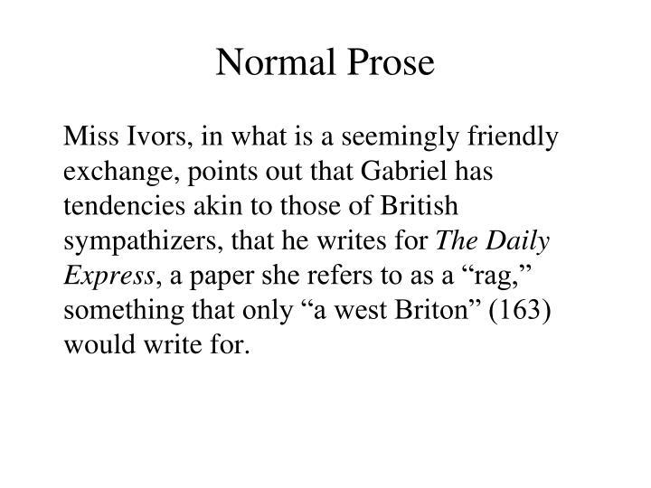 Normal Prose