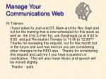 manage your communications web