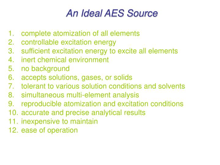 An Ideal AES Source