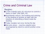 crime and criminal law39
