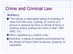 crime and criminal law42
