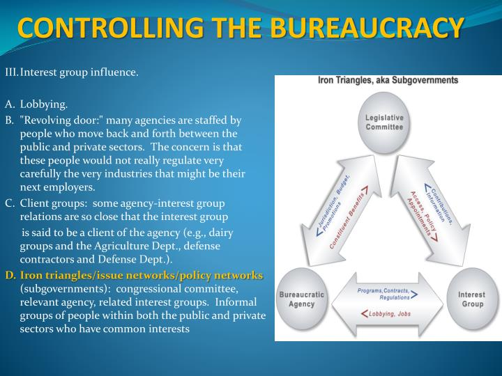 CONTROLLING THE BUREAUCRACY