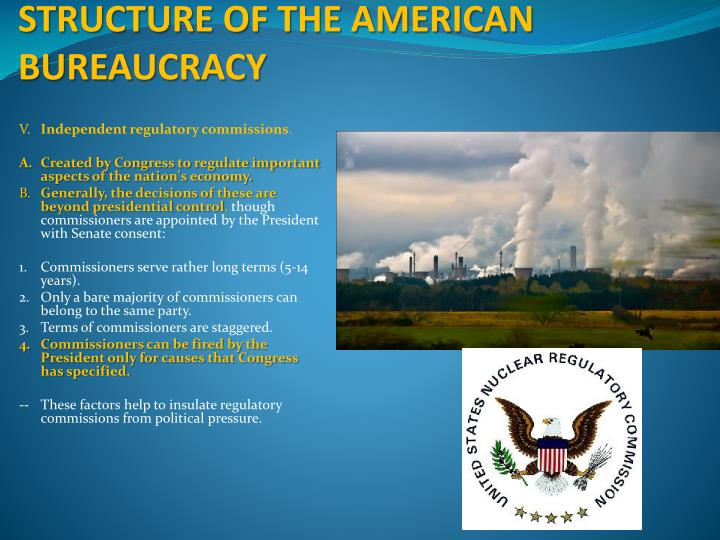 STRUCTURE OF THE AMERICAN BUREAUCRACY