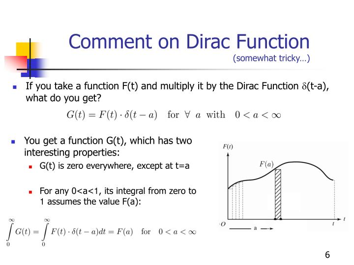 Comment on Dirac Function
