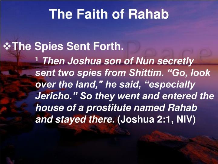 The faith of rahab1