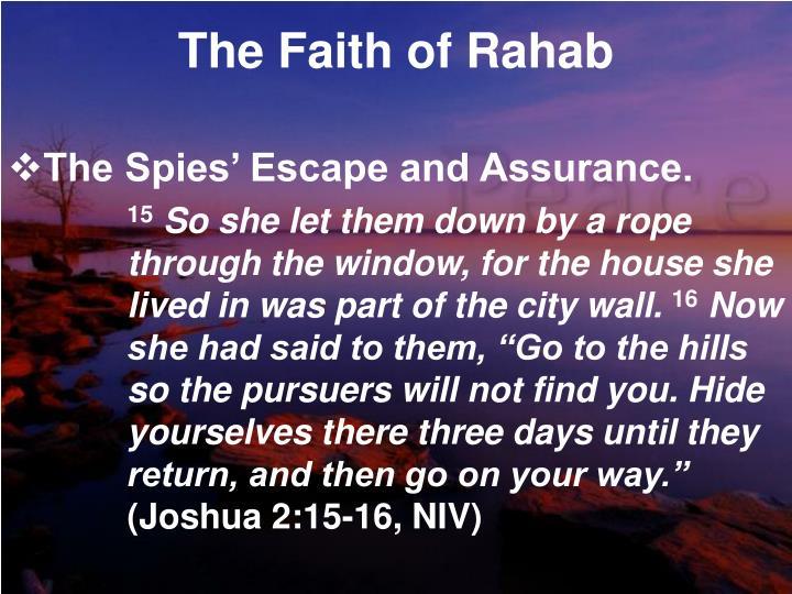 The Faith of Rahab