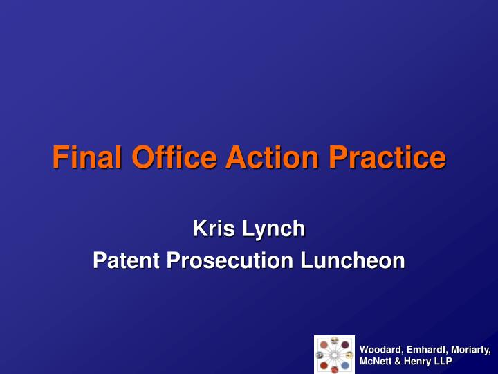final office action practice n.