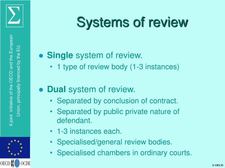 Systems of review